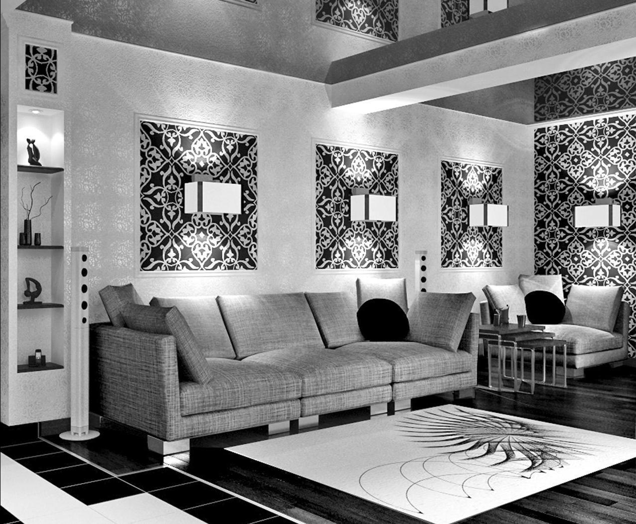 Дизайн белой гостиной фото