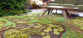 Акриловые ковры в интерьере дома