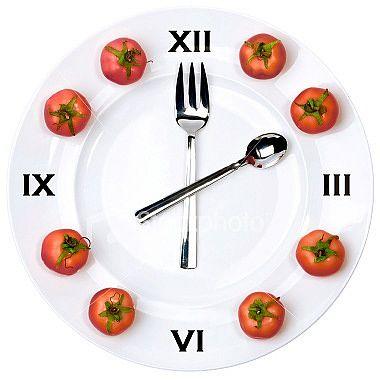 Часы для кухни с помидорами