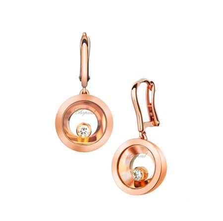 Серьги из розового золота
