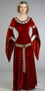 Костюм из раннего средневековья