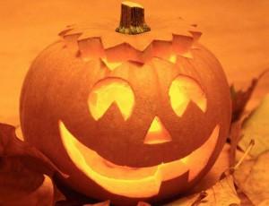 Идеи на хэллоуин - Голова из тыквы