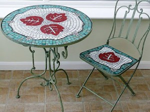 декор старого стола