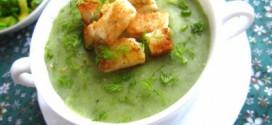 Суп-пюре из картофеля и лука порея