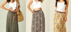 Как носить длинные юбки?