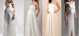 Выбираем свадебное платье для беременных