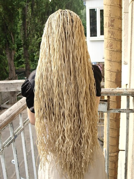 Афронаращивание волос и косичек