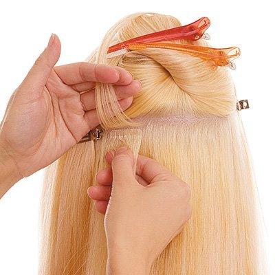 Наращивание волос у мастера