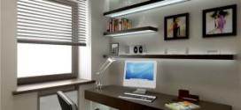 Офисная мебель в интерьере домашнего кабинета
