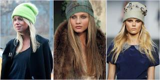 Мода на головные уборы зимой 2015