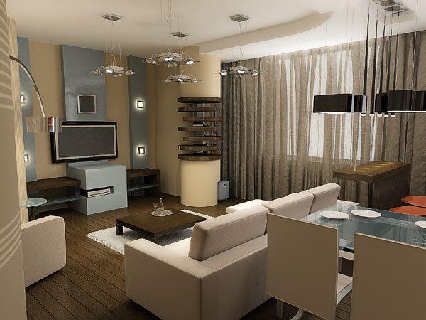 Вариант дизайна гостинной