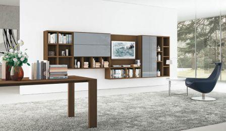 Современная гостиная обставленная итальянской мебелью