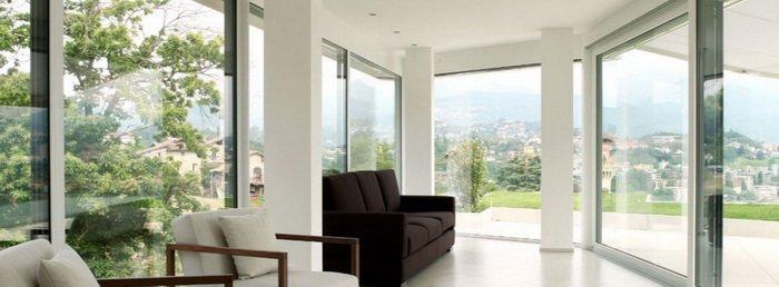 Большие окна пвх для дома